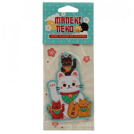 Maneki Neko Lucky Cat Air Freshener - Cherry Blossom Scent