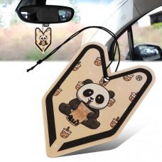 Treefrog Boba Panda Young Leaf Air Freshener - Black Milk Tea Scent
