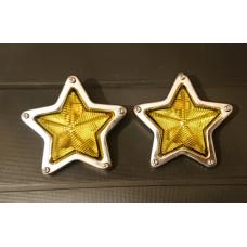 JDM Yellow Star Side Marker Lamps - 85mm