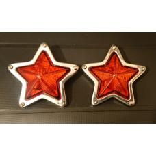 JDM Orange Star Side Marker Indicator Lamps - 85mm