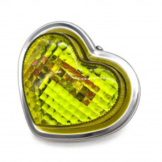 JDM 80mm Yellow Heart Shaped Side Marker Indicator Lamps - 24V5W