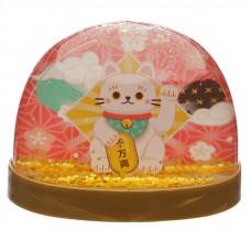 Maneki Neko JDM Lucky Cat Glitter Water Ball Snow Globe