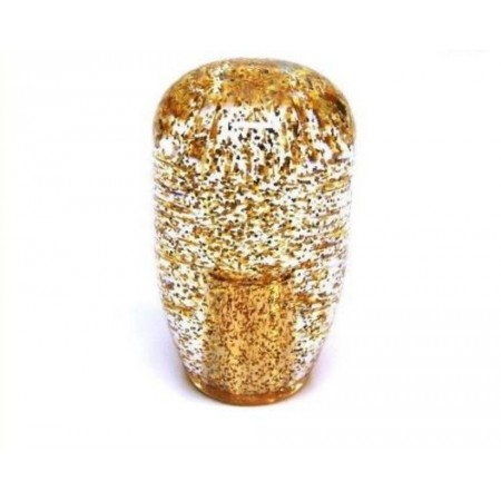 JDM 90mm Clear Gold Glitter 12x1.25 Shift Knob
