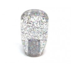 JDM 90mm Clear Silver/Rainbow Glitter 12x1.25 Shift Knob