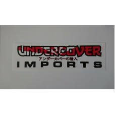 Undercover Imports Drift Logo Sticker Decal - Small 20x5cm