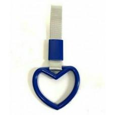 JDM Small Dark Blue Heart Tsurikawa