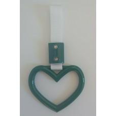JDM Small Dark Green Heart Tsurikawa
